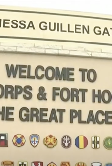 Army base Fort Hood Monday unveiled a memorial for slain soldier Vanessa Guillén.