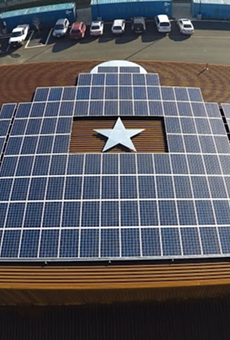 Alamo Beer Company's solar panel installation powers the brewery.