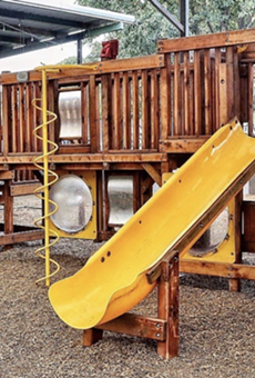 The Cove has reinstalled its play structure, which was removed due to the pandemic.