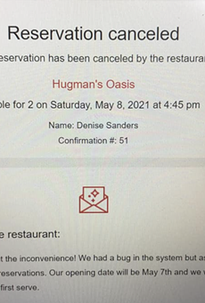 Hugman's Oasis is no longer taking reservations for opening night.