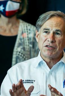 Texas Gov. Greg Abbott speaks during a press event.