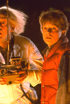 """In addition to the screening, attendees can see the film's DeLorean in SAMA's """"Movie Metal"""" exhibition."""