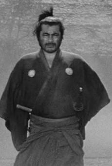 Slab Cinema screening classic samurai film Yojimbo in downtown San Antonio on Tuesday