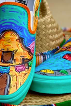 High school student Roger Zamarripa Jr. entered Vans' Custom Culture competition with a puro SA design.
