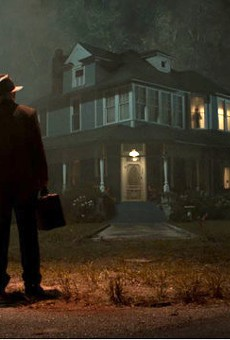 """The lights are on, but nobody's home in the eighth film in the """"Conjuring"""" universe, which tries mightily to mine inspiration from """"The Exorcist,"""" as evidenced by this familiar image."""