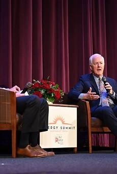 John Cornyn speaks at an energy summit in the East Texas town of Tyler last week.