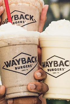 Locals can indulge in a free hand-dipped chocolate milkshake from Wayback Burgers next Monday.
