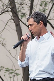 Beto O'Rourke speaks during a campaign appearance when he was running for the U.S. Senate.