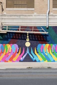 San Antonio artist Suzy González's Touch is part of Centro SA's Art Everywhere initiative.