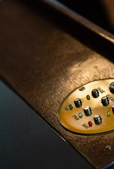 A voting console on a desk in the House Chamber at the Texas Capitol on June 21, 2021.