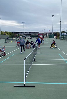 Morgan's Wonderland Sports has accessible tennis and pickleball courts.