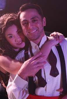 Jillian Sainz and Miguel Ochoa as Gloria and Emilio Estefan in the Woodlawn Theatre's production of On Your Feet!