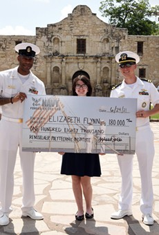 Elizabeth Flynn, of nearby Helotes, was awarded a $180,000 NROTC Scholarship.
