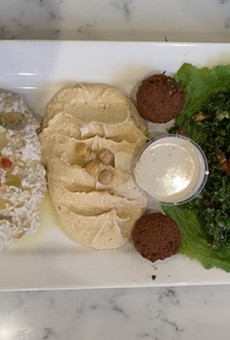 Zaatar's hummus is classically creamy and presented simply, although a spicy version is also available.