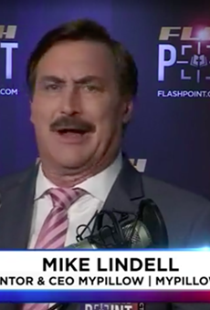 """Pillow peddler Mike Lindell assures us his """"cyber guys"""" are working around the clock to put Trump back in office."""