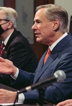 Texas Gov. Greg Abbott speaks at a news conference.
