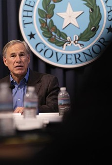 Gov. Greg Abbott holds a border security briefing with sheriffs from border communities at the Texas Capitol on July 10, 2021.