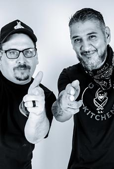Chefs Paprocki (L) and Cruz will open Gunslingers next week.