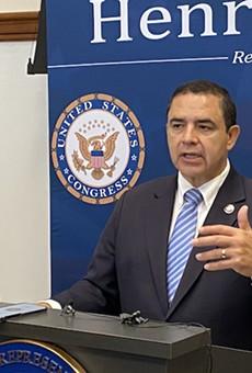 U.S. Rep. Henry Cuellar speaks during a Friday appearance in San Antonio.