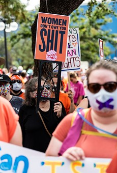 San Antonio marchers protest the state's abortion ban last weekend.