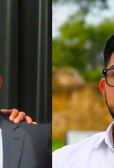 Republican John Lujan (left) and Democrat Frank Ramirez (right) are headed to a runoff to represent the South Bexar County Texas House district formerly held by Democrat Leo Pacheco.