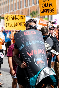 San Antonians protest Texas' abortion ban during a recent march.