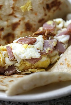 Mendez Cafe's Ham and Egg Taco Has Hints of Pancake And It's Delicious