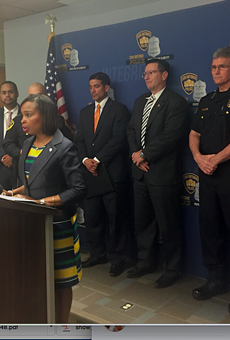 Mayor Ivy Taylor speaking at Thursday's press conference.
