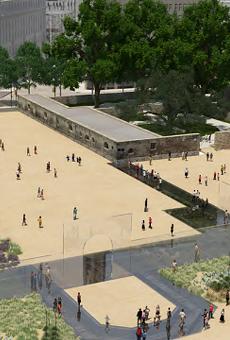 Behold: Dirt plaza.