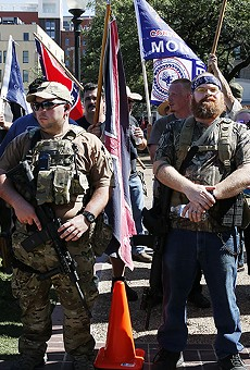 Members of 'This Is Texas Freedom Force' at their Saturday protest.