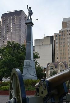Travis Park's contested Confederate statue.