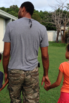 Tim Duncan recently took his two children to visit his hometown, St. Croix.
