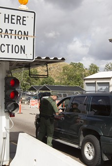 A U.S. Customs and Border Protection checkpoint in San Diego, California.