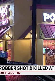 Suspect in Botched Robbery Shot By Man After Pointing Gun at His Children