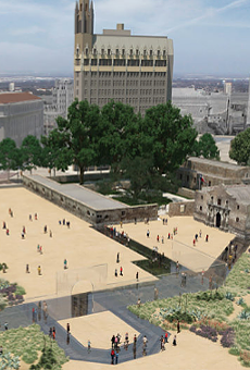 The original plan proposed for the Alamo Plaza's redesign.