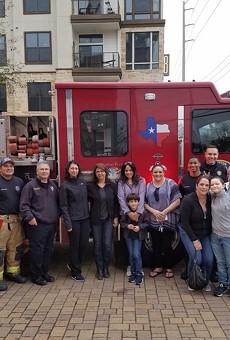 San Antonio Boy Fighting Cancer Made Honorary Houston Firefighter