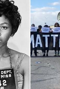 L: Freedom Rider Kredelle Petway after her 1961 arrest. R: Mike Lowe, a leader in San Antonio's Black Lives Matter movement.