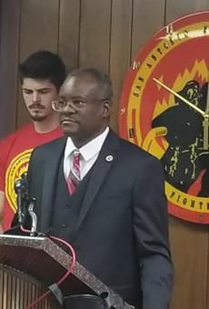 "Chris Steele announced his ""San Antonio First"" campaign on Feburary 20"