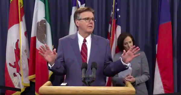 Lt. Gov. Dan Patrick thinks Texas should redesign 8,000 campuses so they have fewer entrances and exits. - TEXAS TRIBUNE LIVESTREAM, FACEBOOK.COM