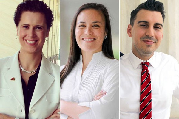 LGBTQ Congressional candidates from Texas: Lorie Burch from Plano, Gina Ortiz Jones from San Antonio and Eric Holguin from Corpus Christi. - COURTESY