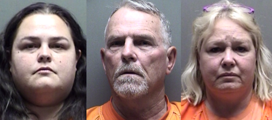 Amanda Tatum, Douglas Coats, and Stella Coats (L-R) - WILSON COUNTY SHERIFF'S OFFICE