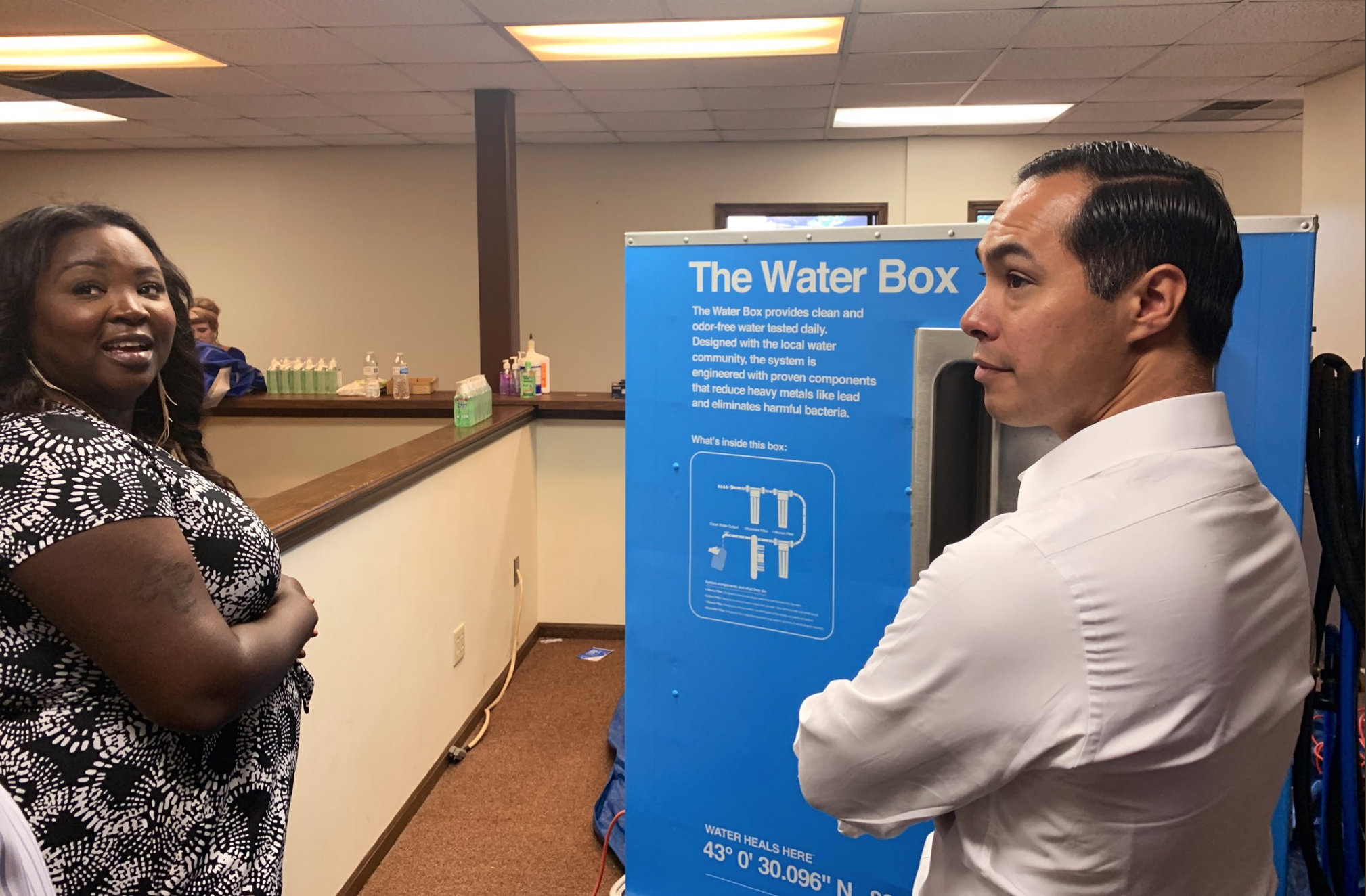Presidential Candidate Julian Castro Visits Flint, Unveils
