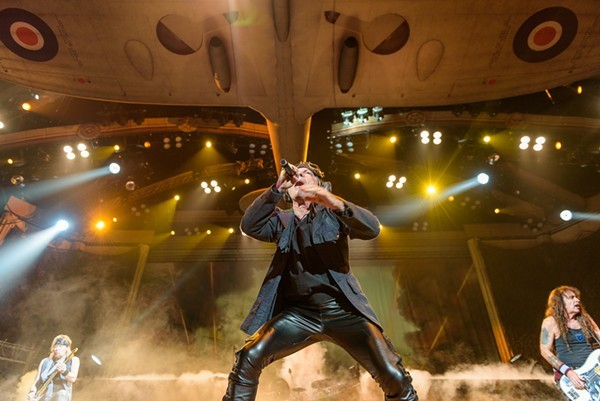 Iron Maiden Mixed Classic Material With Dynamic Deep Tracks at San Antonio's AT&T Center