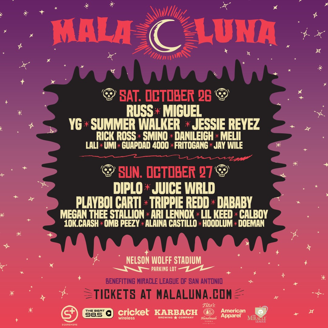 Mala Luna Drops Full Schedule For Music Festival This Weekend