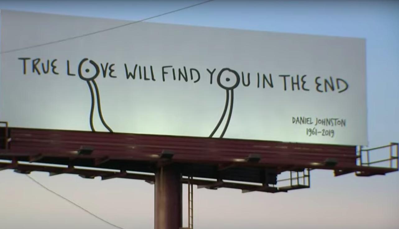 Daniel Johnston Billboard Tribute Appears Over I-35 in Austin