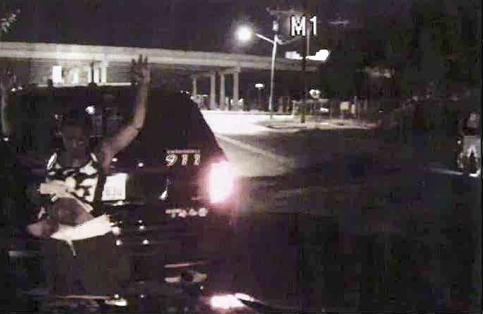 Dash camera video included in Natalie Simms' lawsuit shows her being searched by an SAPD officer. - OFFICES OF DEAN MALONE, P.C.
