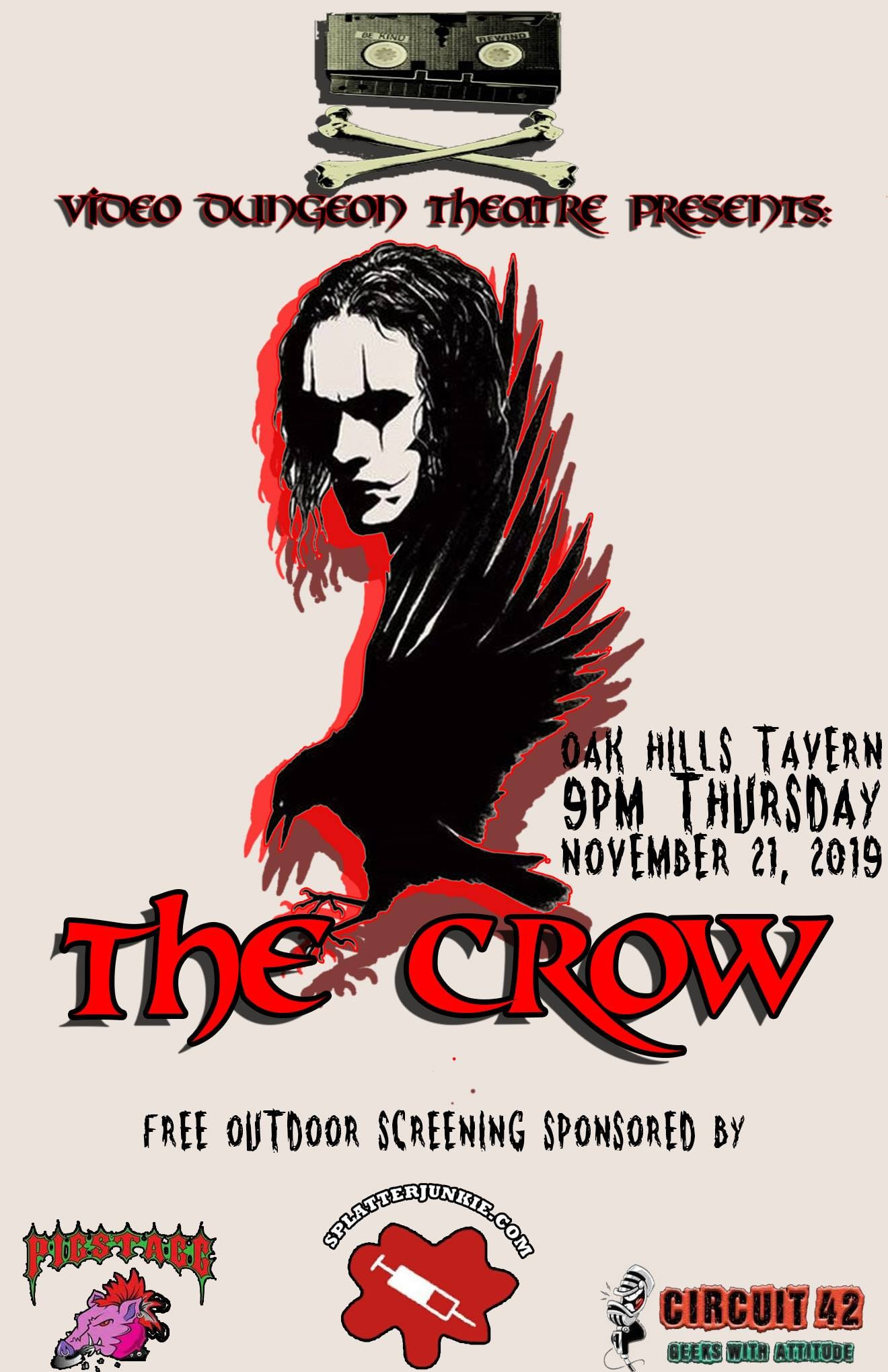 Video Dungeon Theatre Will Resurrect Brandon Lee on Thursday with a Free Screening of The Crow