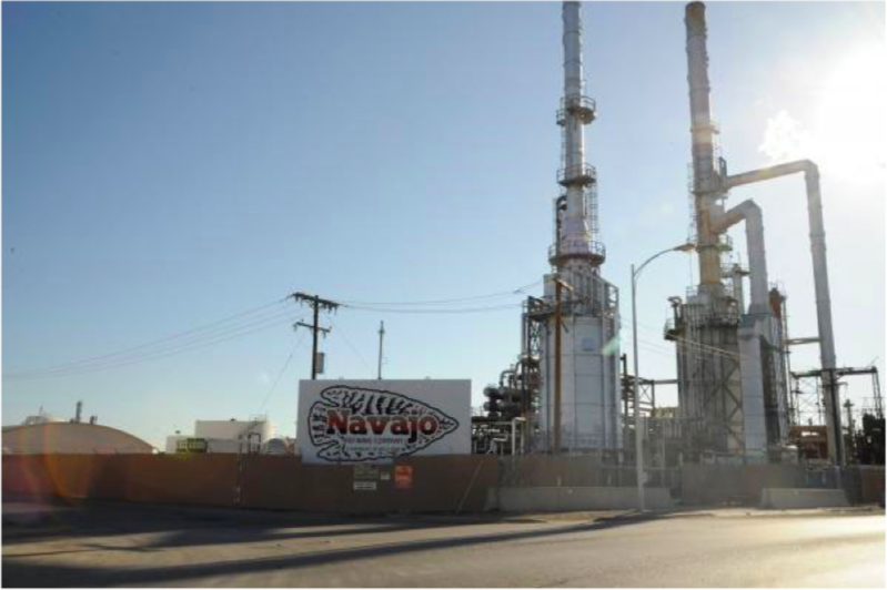 The Navajo refinery in New Mexico has been identified as one of the nation's worst benzene polluters. - ENVIRONMENTAL INTEGRITY PROJECT