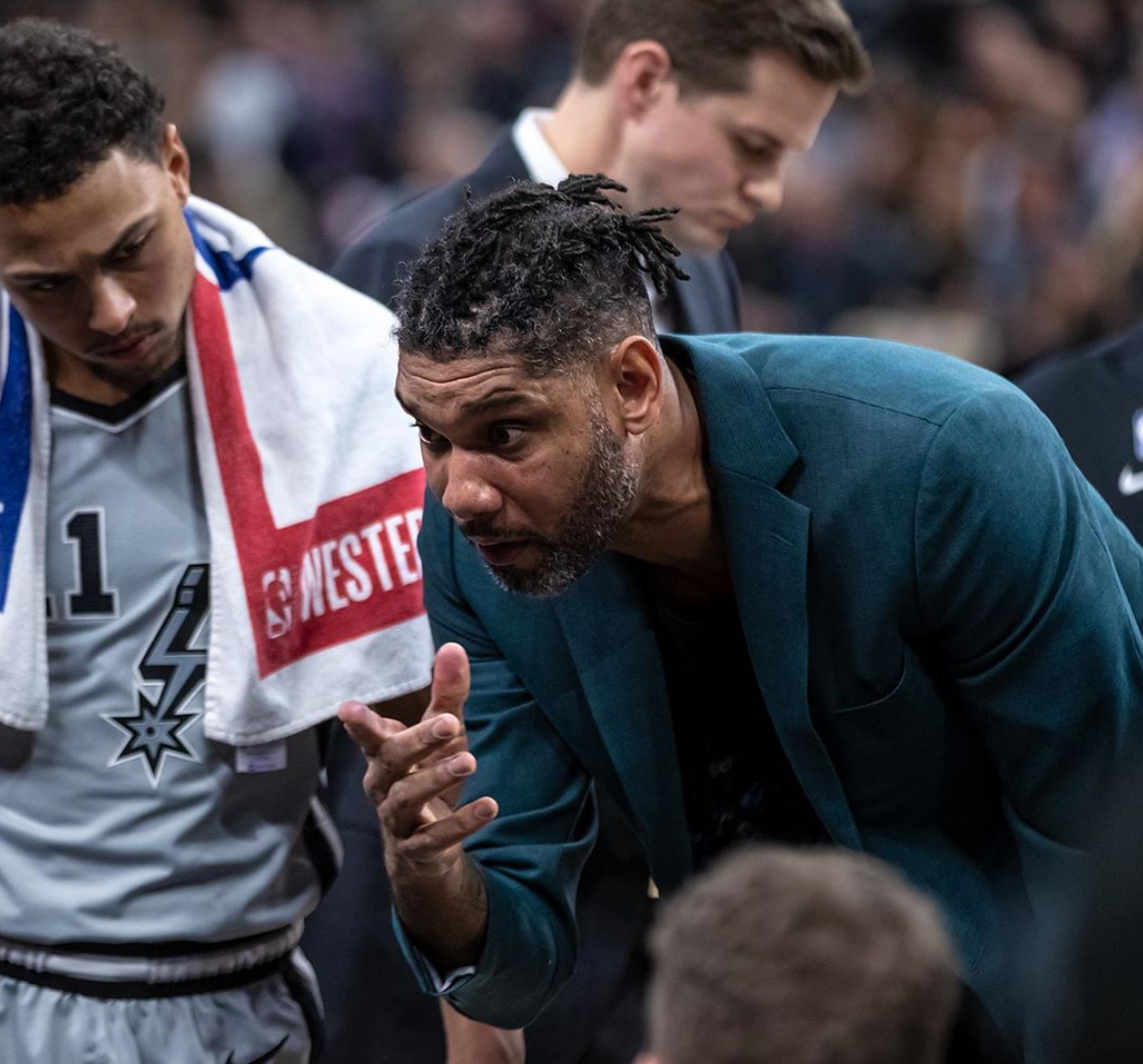 Tim Duncan fills in for Gregg Popovich as Spurs coach