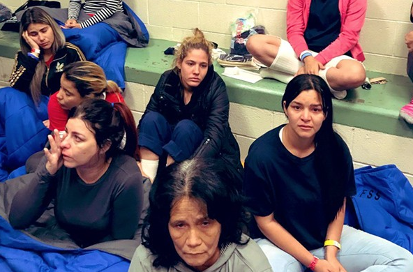 Migrants in ICE detention centers are held in cramped conditions that can enable quick spread of disease, critics charge. - COURTESY PHOTO / JOAQUIN CASTRO